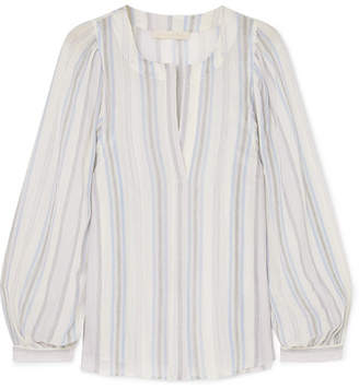Vanessa Bruno Leni Striped Cotton-gauze Blouse - Light blue
