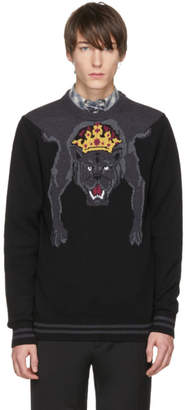 Dolce & Gabbana Black Royal Panther Sweater