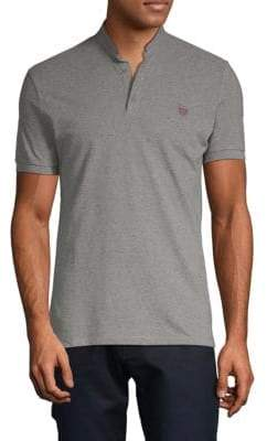 Mandarin Collar Cotton Polo