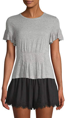 Rebecca Taylor Ruched Jersey T-Shirt