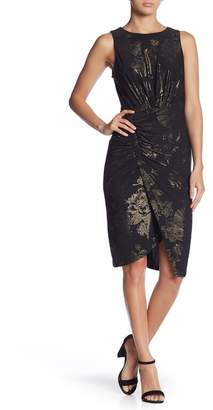 SUPERFOXX Side Ruched Floral Sleeveless Dress