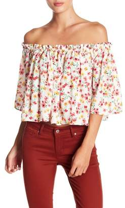 BB Dakota Ayla Off-the-Shoulder Floral Print Blouse