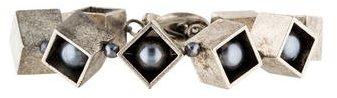 Tory BurchTory Burch Pearls & Cube Link Bracelet