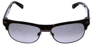 John Galliano Rectangle Frame Sunglasses