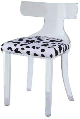 Acme Bradley Accent Chair in Spotted Velvet and Clear Acrylic