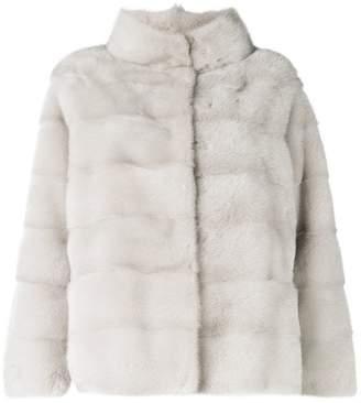 Simonetta Ravizza classic collar fur jacket