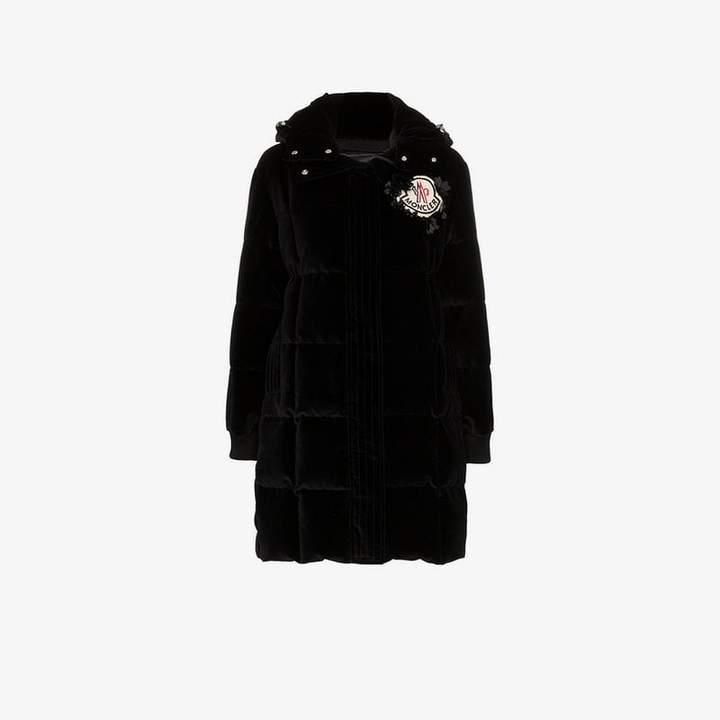 Moncler Genius X margareth quilted velvet coat
