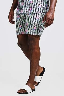 Big & Tall Stripe & Floral Print Swim Shorts