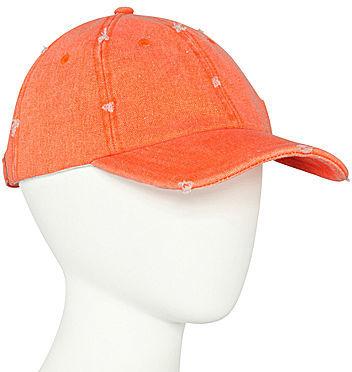 JCPenney Asstd Private Brand Distressed Neon Baseball Cap