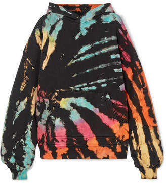 Amiri Oversized Tie-dye Cotton-jersey Hoodie - Black