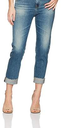 AG Adriano Goldschmied Women's Denim Ex-Boyfriend Slim Raw Hem