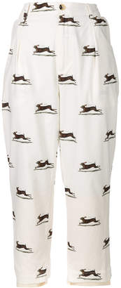 Aleksandr Manamis cropped hare print trousers