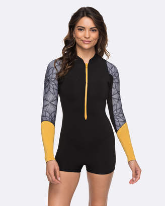 262503db43 Roxy Womens 2mm Pop Surf Long Sleeve Front Zip Springsuit Wetsuit