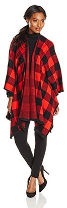 Kensie Women's Soft Cotton Blend Blanket Poncho Sweater $122.99 thestylecure.com