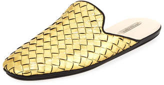Bottega Veneta Intrecciato Metallic Leather Mule