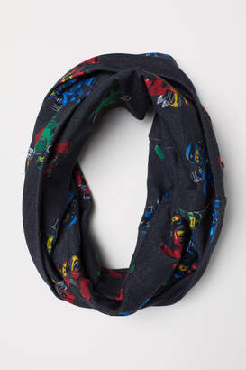 H&M Patterned Tube Scarf - Black
