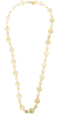 Mahnaz Collection Limited Edition 18K Gold Heart Link Chain By O.J. Perrin.