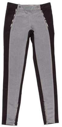 Stella McCartney Two-Tone Mid-Rise Skinny Jeans