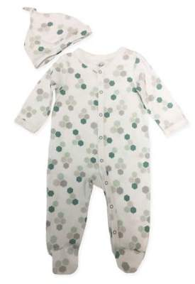 Sterling Baby 2-Piece Honeycomb Footie and Hat Set in White
