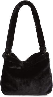 AREA STARS Arabelle Faux Fur Hobo Bag