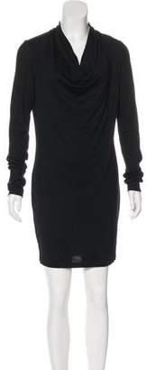 Helmut Lang Wool Cowl Neck Dress