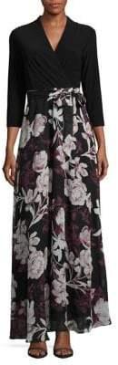 Chetta B Floral Maxi Dress