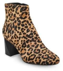 KENDALL + KYLIE Hadlee Leopard Print Calf Hair Booties