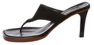Michael Kors Suede Thong Sandals
