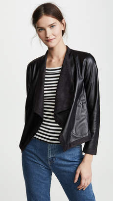 BB Dakota Teagan Reversible Drape Front Jacket