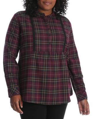 Lee Riders Women's Plus Long Sleeve Flannel Tunic
