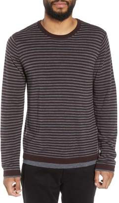 Vince Striped Double Layer Merino Wool Sweater