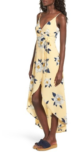 Women's J.o.a. Floral Faux Wrap Slipdress 4