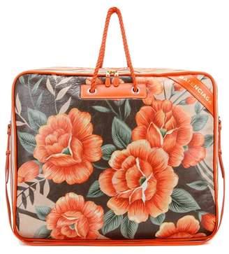 Balenciaga Blanket Square XL printed leather shoulder bag