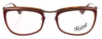 Persol Rectangle Frame Eyeglasses Rectangle Frame Eyeglasses