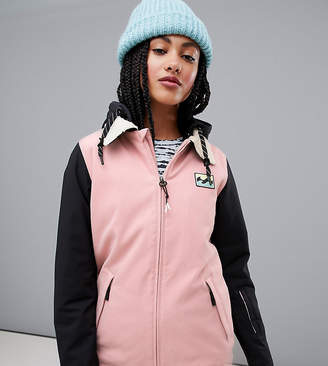 Billabong Coastal ski jacket in pink