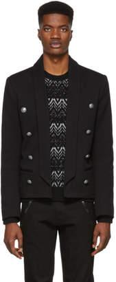 Balmain Black Eight-Button Blazer