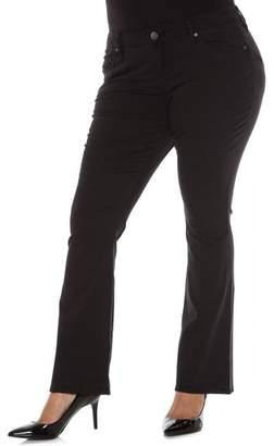 SLINK JEANS Stretch Twill Bootcut Pants (Plus Size)