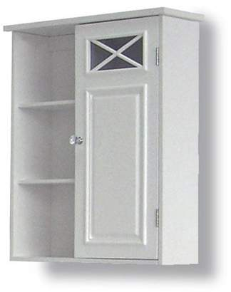 Elegant Home Fashions Dawson Wall Cabinet with One Door & Shelves