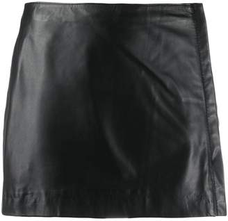 P.A.R.O.S.H. short leather skirt