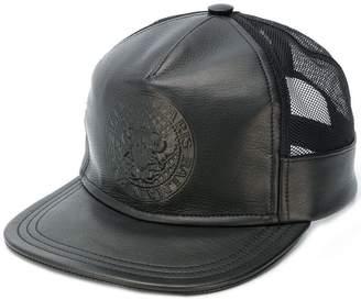 Balmain logo crest baseball cap