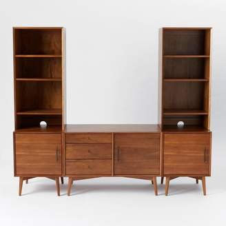 west elm Media Set - 1 Small Console, 2 Towers with 1-Door Bases