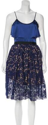 Self-Portrait Lace Knee-Length Dress