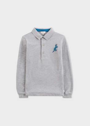 Paul Smith Boys' 2-6 Years Grey Marl 'Dino' Long-Sleeve Polo Shirt