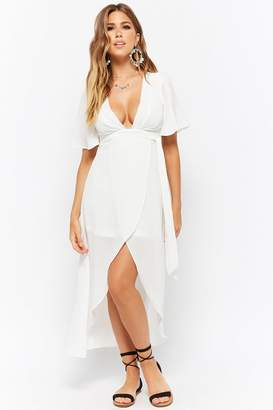 Forever 21 Crinkled Plunging High-Low Dress