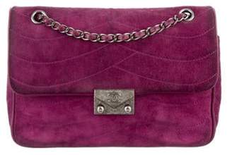 Chanel Medium Suede Flap Bag Purple Medium Suede Flap Bag