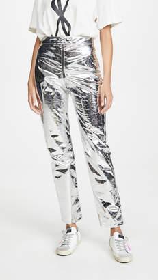 MSGM Metallic Trousers