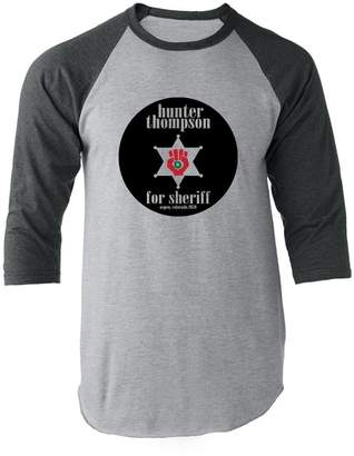 Hunter Pop Threads S. Thompson for Sheriff L Raglan Baseball Tee Shirt
