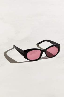 Urban Outfitters Plastic Contrast Oval Lens Sunglasses
