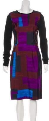 Oscar de la Renta Silk and Wool Dress