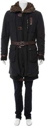 Helen Yarmak Fur-Trimmed Long Coat